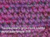 Gents-Ladies Slubbers haakpakket Filz uni paars-roze combi rozepaars 100%wol_