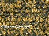 Haakpakket Zermat uni okergeel/olijfgroen _