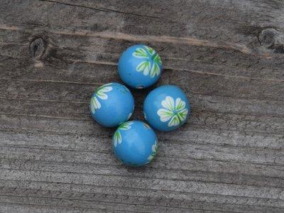 Kraal hout beschilderd 1,5 cm