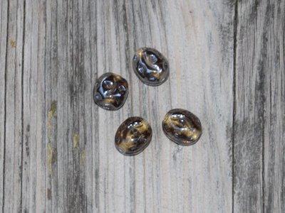 Kraal glas taupe 1,3 cm
