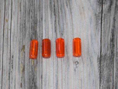 Kraal glas oranje staaf 1,5 cm