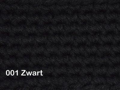 Gents-Ladies Slubbers haakpakket No1 uni Zwart 100 % acryl