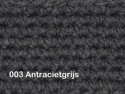 Gents-Ladies Slubbers haakpakket No1 uni Antraciet 100 % acryl