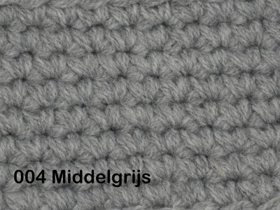 Gents-Ladies Slubbers haakpakket No1 uni middelgrijs 100 % acryl