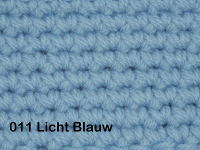 Gents-Ladies Slubbers haakpakket No1 uni lichtblauw 100 % acryl