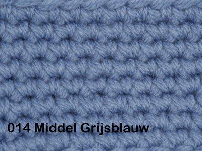 Gents-Ladies Slubbers haakpakket No1 uni middel grijsblauw 100 % acryl