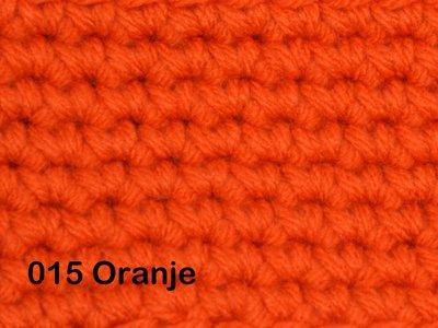 Gents-Ladies Slubbers haakpakket No1 uni oranje 100 % acryl
