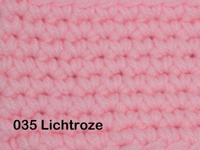 Gents-Ladies Slubbers haakpakket No1 uni lichtroze 100 % acryl