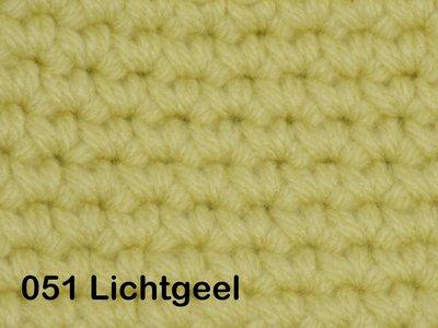 Gents-Ladies Slubbers haakpakket No1 uni lichtgeel 100 % acryl