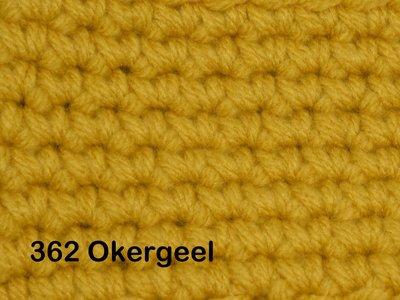 Gents-Ladies Slubbers haakpakket No1 uni okergeel 100 % acryl