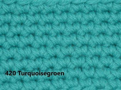 Gents-Ladies Slubbers haakpakket No1 uni turquoisegroen 100 % acryl