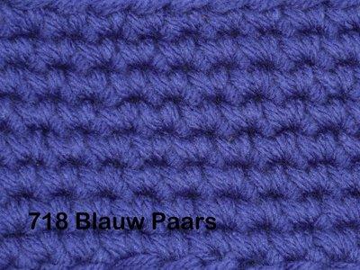 Gents-Ladies Slubbers haakpakket No1 uni blauwpaars 100 % acryl