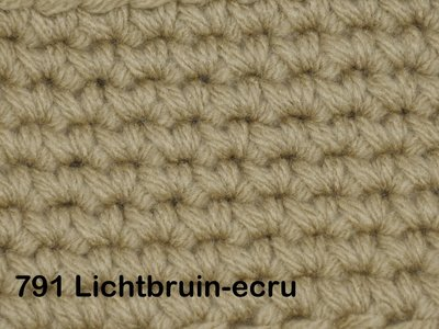 Gents-Ladies Slubbers haakpakket No1 uni lichtbruin-ecru 100 % acryl