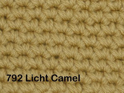 Gents-Ladies Slubbers haakpakket No1 uni licht camel 100 % acryl