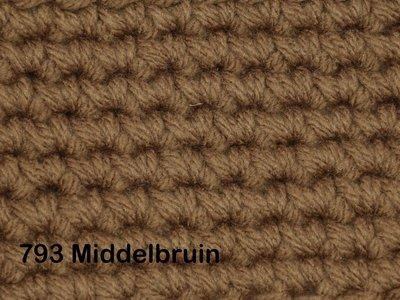 Gents-Ladies Slubbers haakpakket No1 uni middelbruin 100 % acryl