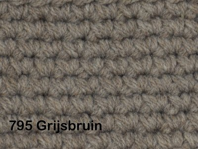 Gents-Ladies Slubbers haakpakket No1 uni grijsbruin 100 % acryl