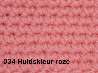 Gents-Ladies Slubbers haakpakket No1 uni huidskleurroze 100 % acryl