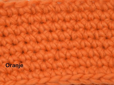 Gents-Ladies Slubbers haakpakket Malmo uni Oranje 70%acryl/30% wol