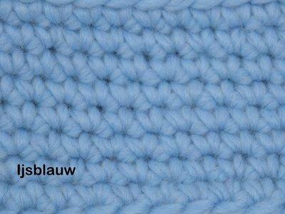 Gents-Ladies Slubbers haakpakket Malmo uni ijsblauw 70%acryl/30% wol