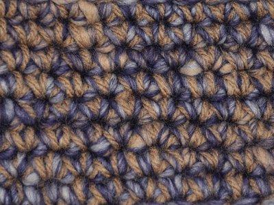 Gents-Ladies Slubbers haakpakket Boston paars-ecru uni-combi middelbruin 65% acryl/35% wol