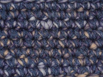 Gents-Ladies Slubbers haakpakket Boston paars-ecru uni-combi donker grijsblauw 65% acryl/35% wol