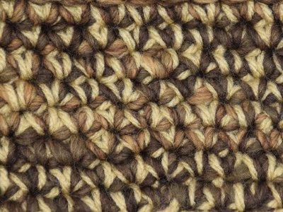 Gents-Ladies Slubbers haakpakket Boston bruin-ecru uni-combi ecru 65% acryl/35% wol