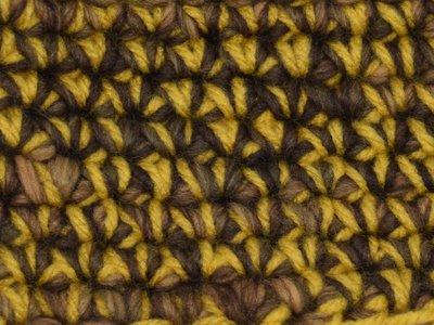 Gents-Ladies Slubbers haakpakket Boston bruin-ecru uni-combi okergeel 65% acryl/35% wol