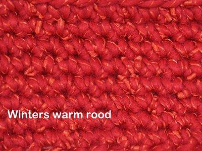 Gents-Ladies Slubbers haakpakket Zermat uni winters warmrood 55% acryl/25%wol/20%polyester