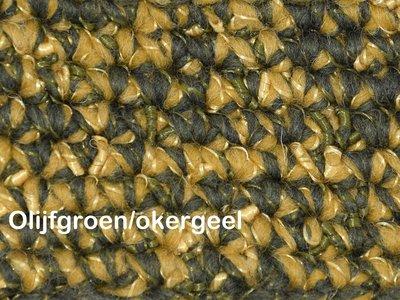 Gents-Ladies Slubbers haakpakket Zermat uni okergeel/olijfgroen 55% acryl/25%wol/20%polyester