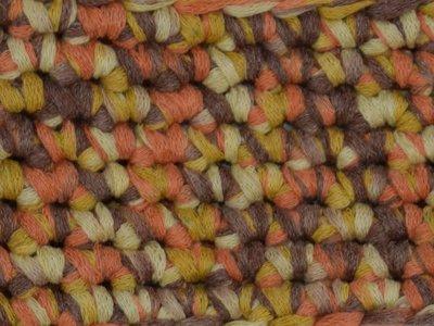 Gents-Ladies Slubbers haakpakket Lente Lacet uni okergeel-oranje melé 50%katoen/50% acryl