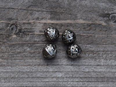 Kraal kunststof zilverkleur 1,0 cm