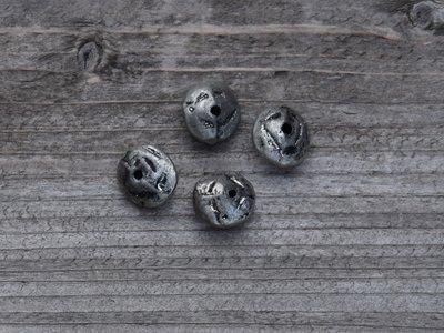 Kraal metaal zilverkleur 1,4 cm/