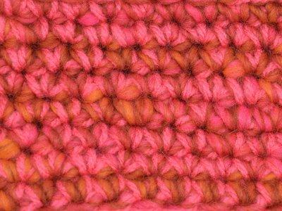Kids Haakpakket Boston oranje-roze uni-combi felroze