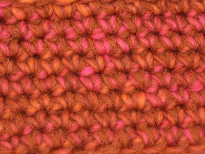 Kids Haakpakket Boston oranje-roze uni-combi roestbruin