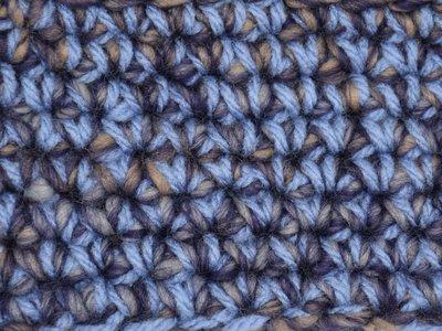 Kids Haakpakket Boston paars-ecru uni-combi ijsblauw