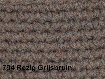 Gents-Ladies Slubbers haakpakket No1 uni rozig grijsbruin 100 % acryl