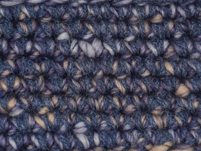 Haakpakket Boston paars-ecru uni-combi donker grijsblauw