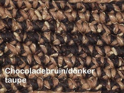 Gents-Ladies Slubbers haakpakket Zermat uni chocoladebruin/goudbruin 55% acryl/25%wol/20%polyester